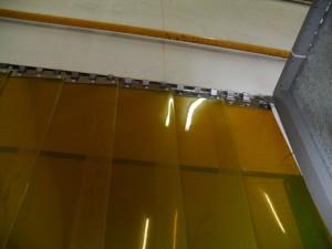 cortina pvc amarela