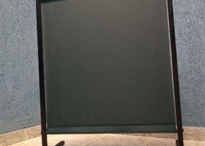 Cortina de pvc em manta verde