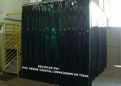 cortina de pvc em tiras