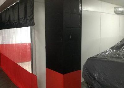 cortina cabine de lavagem e pintura para automóveis