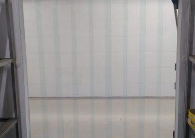 cortina de pvc em tiras transparente