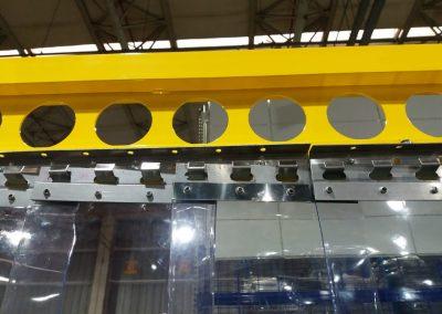 cortina de pvc em tiras transparente industria