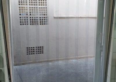 cortina de pvc para camara fria transparente
