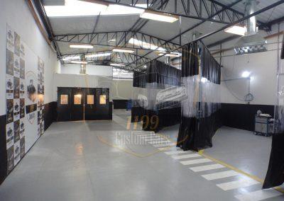 cortina flexivel para cabine de pintura