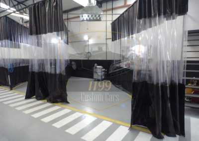 cortina para cabine de pintura