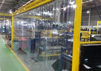 cortina pvc em tiras transparente industria