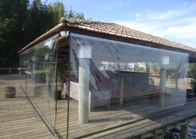 toldo cortina retratil para varanda