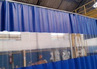 Cortinas para cabine de pintura em pvc