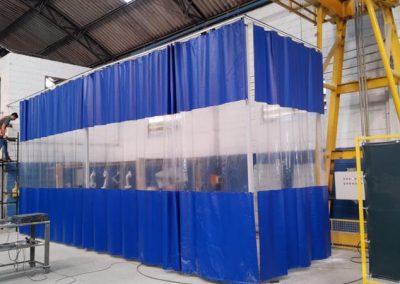 Cortinas de pvc para cabine de pintura