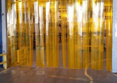 Cortina PVC Amarela Anti inseto 1 1