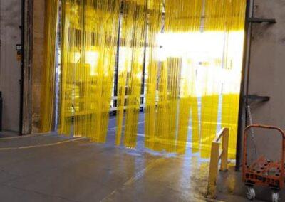 Cortina PVC Amarela Anti inseto 2 1
