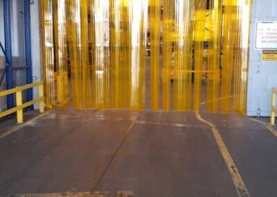 Cortina PVC Amarela Anti inseto 3 1